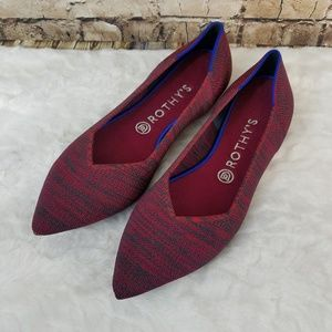 Likenew Rothys Point In Crimson Heather